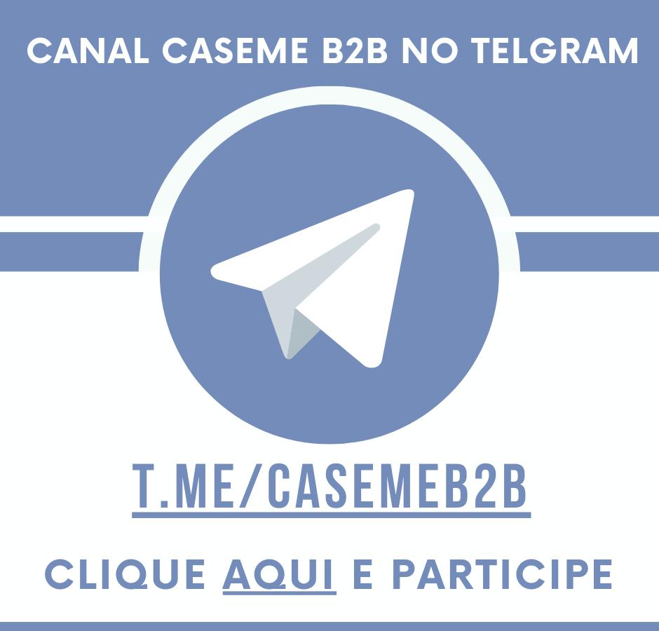 Conheça o Telegram do CaseMe B2B